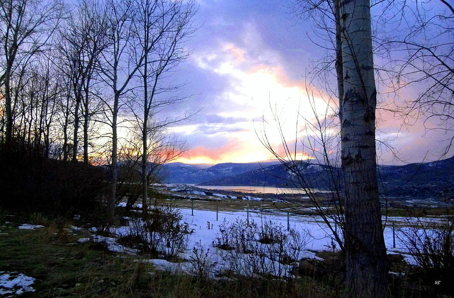 Sunset Photograph - Reflections On Lake Okanagan by Will Borden