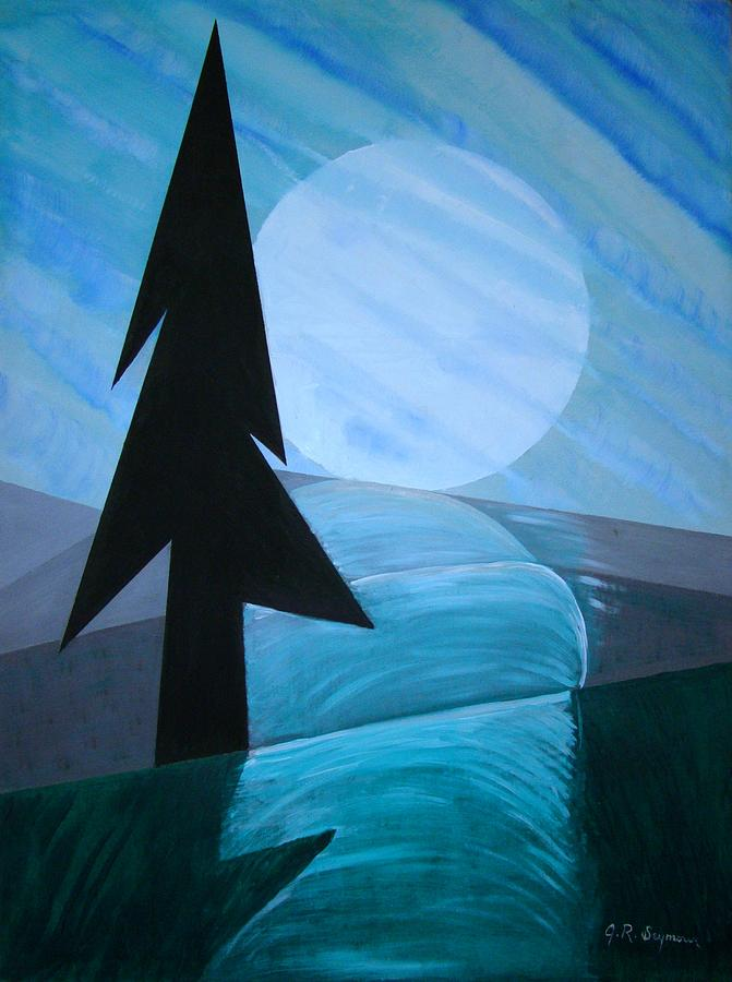 Phases Of The Moon Painting - Reflections On The Day by J R Seymour