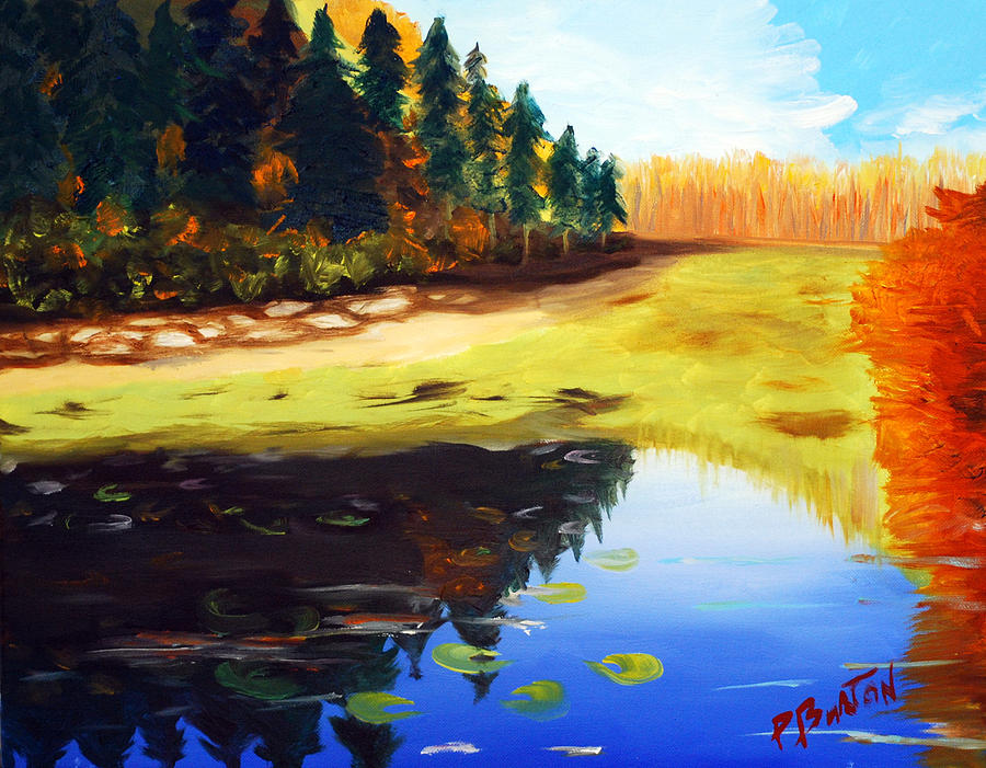 Landscape Painting - Reflections by Phil Burton