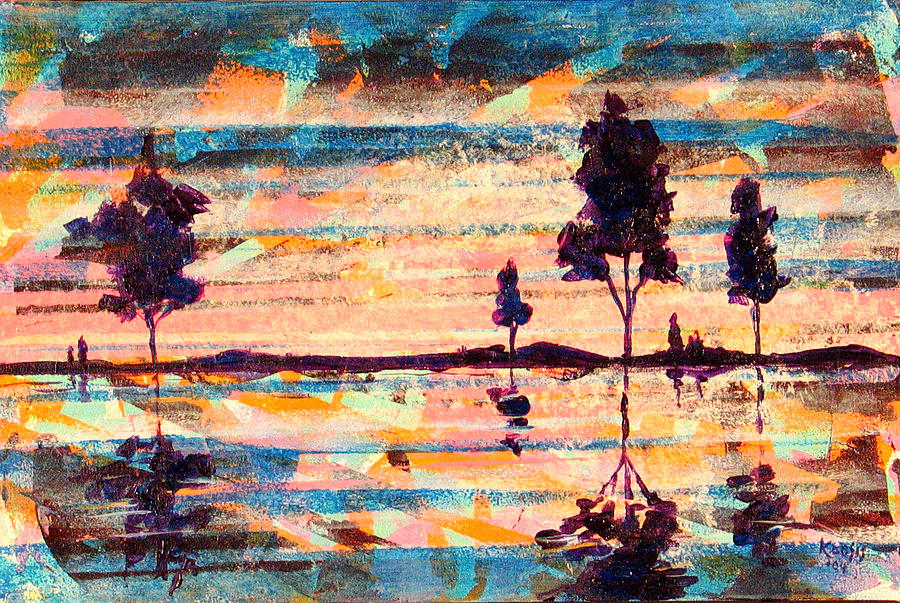 Water Painting - Reflections by Rollin Kocsis