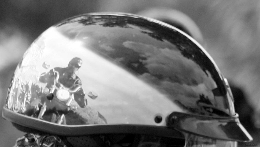 Motorcycle Photograph - Reflections by Susan Hawk
