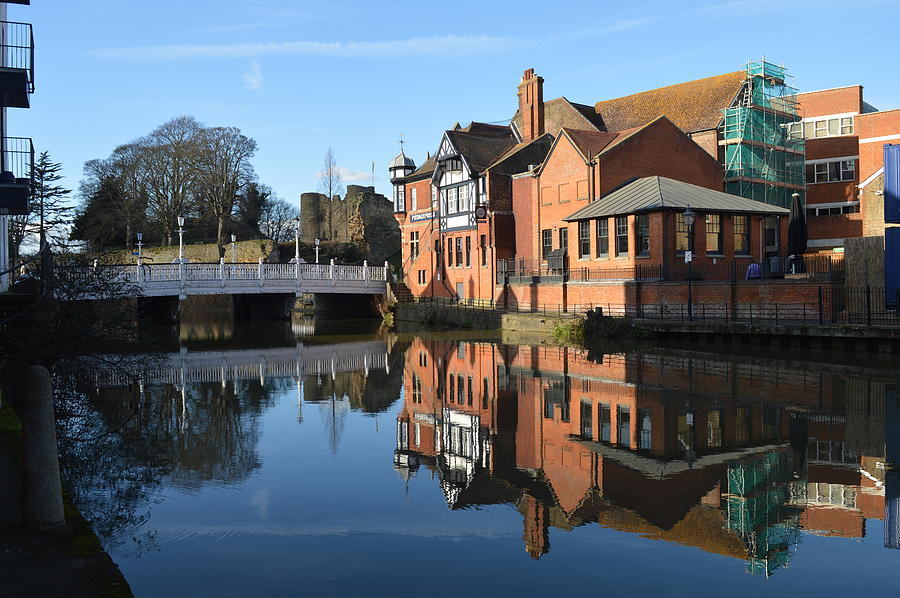 Reflections Upon River Medway Tonbridge Kent Photograph by ...