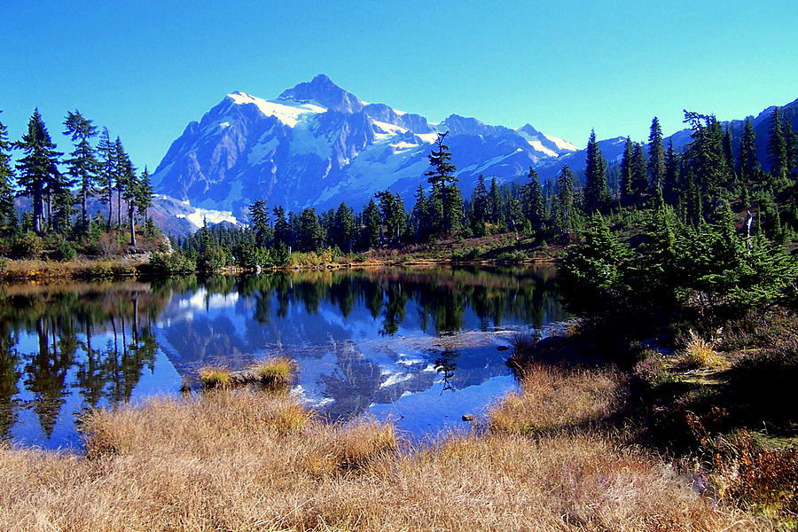 Mountains Photograph - Reflective Beauty by Lynn Bawden