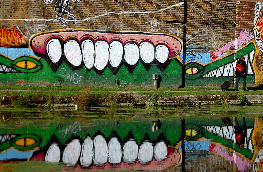 Photographer Photograph - Reflective Canal 12 by Jez C Self
