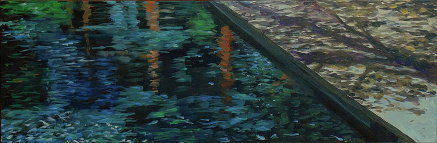 Water Painting - Reflective State by Susan Moore