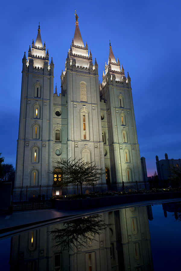 Reflective Temple Photograph - Reflective Temple by Chad Dutson