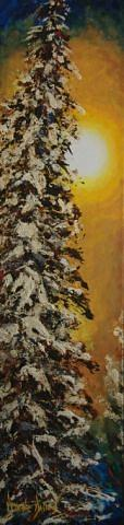 Trees Painting - Reflet De Nacre by Dyane Dastous