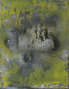 Reflet miroir dun lac galactique 2005 Painting by Annick Gauvreau