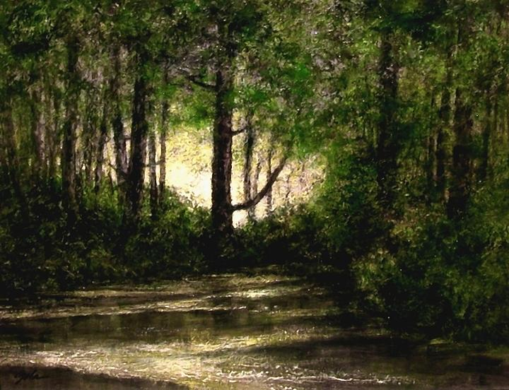 Tonalist Painting - Refuge - Early Morning by Jim Gola
