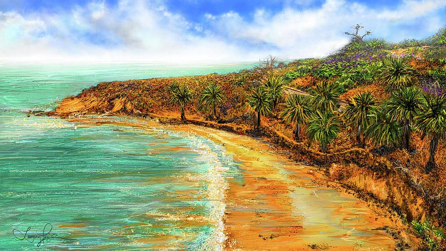 Refuge Of Tranquility - Refugio State Beach Park California Art by Lourry Legarde