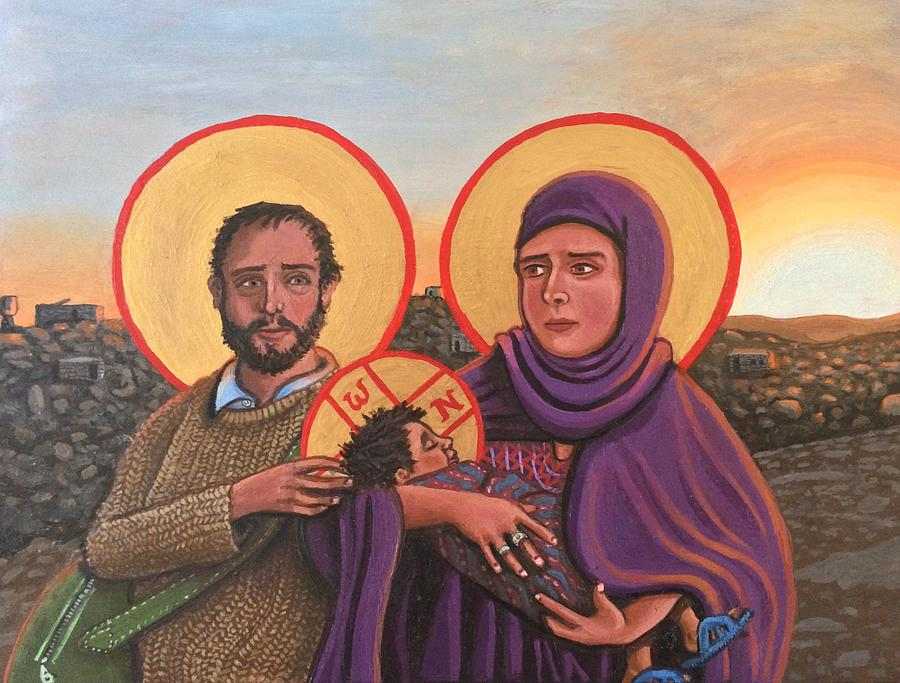 Refugees The Holy Family by Kelly Latimore