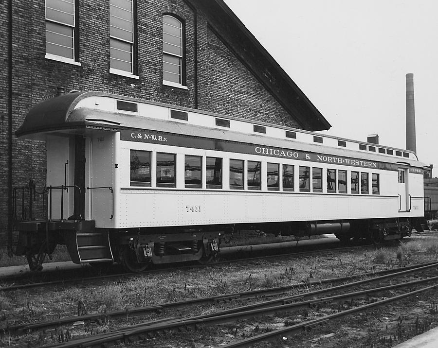 Passenger Cars Photograph - Refurbished Car 7411 - 1960  by Chicago and North Western Historical Society