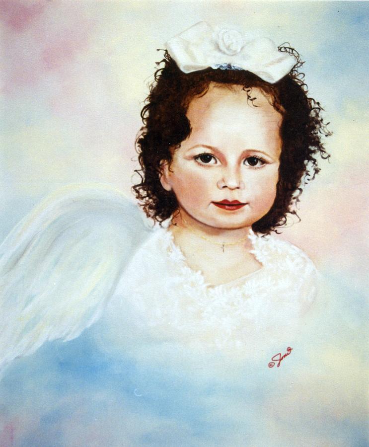 Portrait Painting - Regal Angel by Joni McPherson