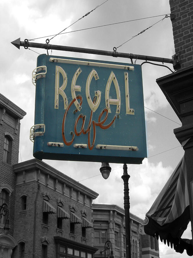 Cafe Photograph - Regal Cafe by Audrey Venute