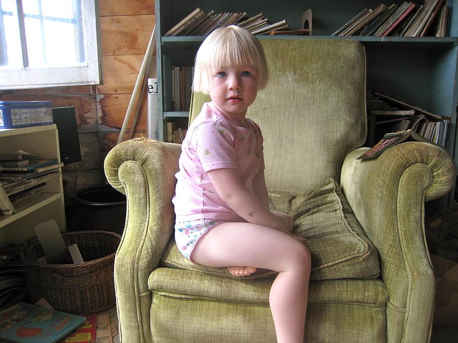 Child Photograph - Regal Molly by Lynn Friedman
