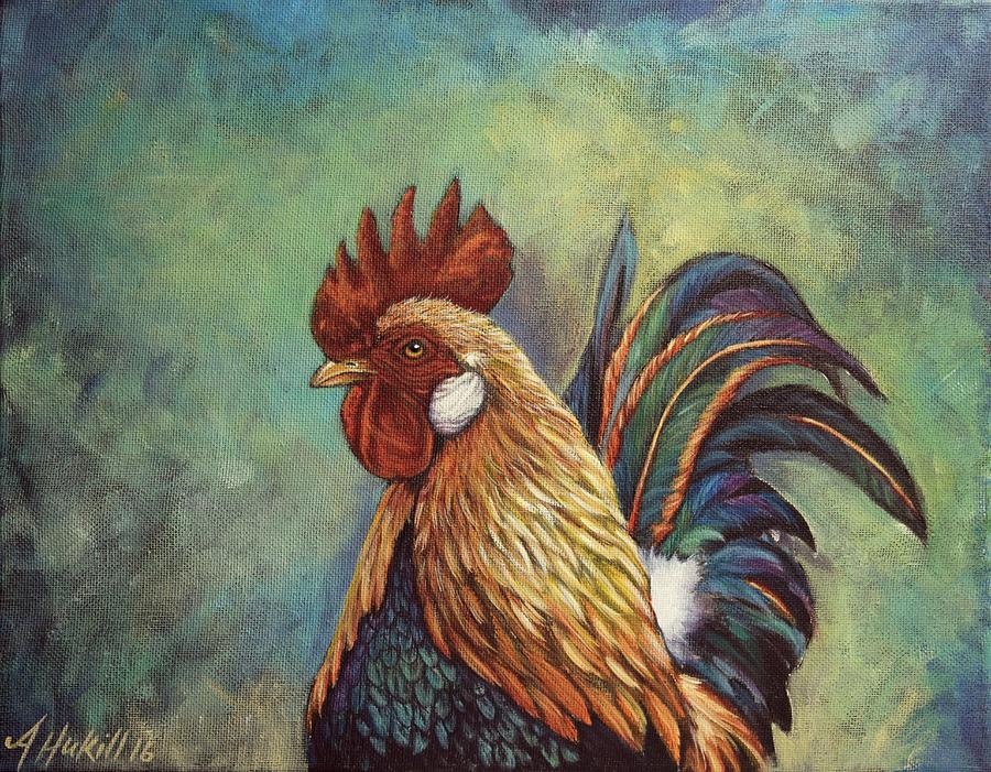 Rooster Painting - Regal Rooster by Amanda Hukill