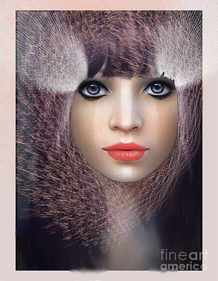 Rouge Digital Art - Regard Fatal by Degouges Cindy