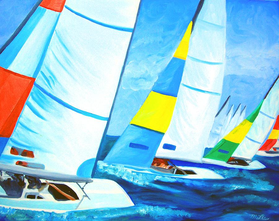 Sailing Painting - Regatta by Michael Lee