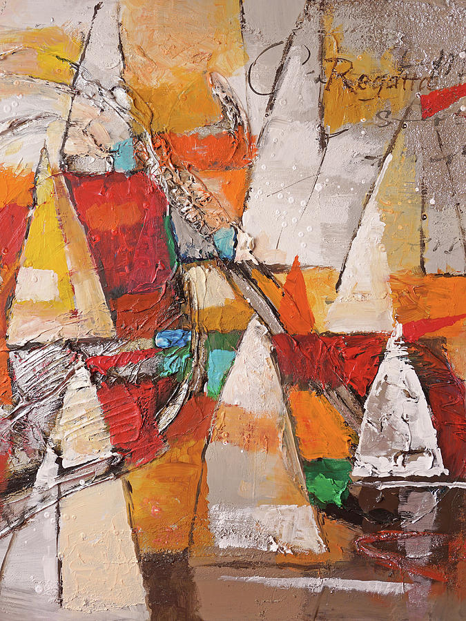 Navigare Painting - Regatta Pastoso by Lutz Baar