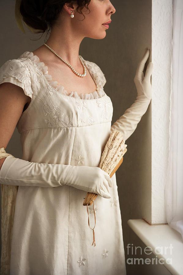 Regency Woman At The Window Photograph By Lee Avison