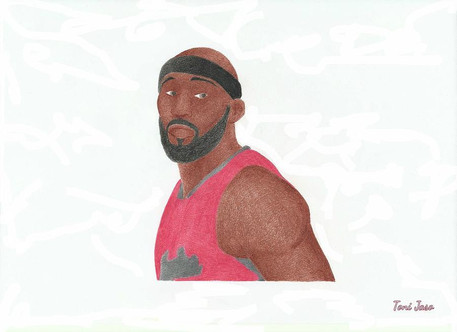 Basketball Drawing - Reggie Evans by Toni Jaso