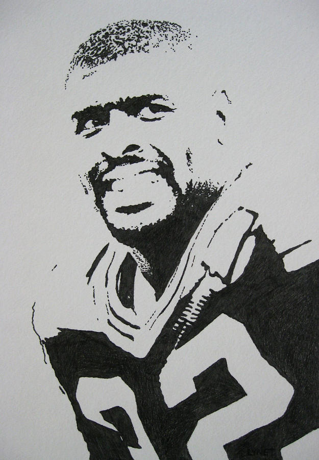 Reggie White Drawing - Reggie by Lynet McDonald
