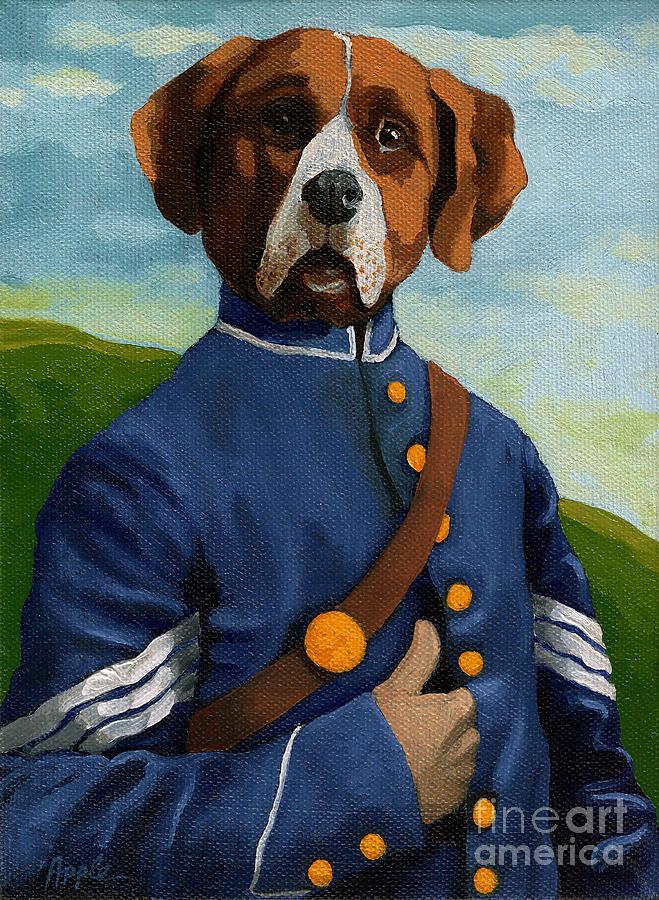 Fantasy Painting - Reginal Biggs - Civil War Soldier Fantasy Portrait by Linda Apple