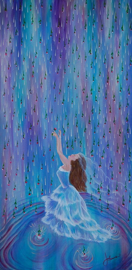 Rain Painting - Reign Of Love by Johanna Larson