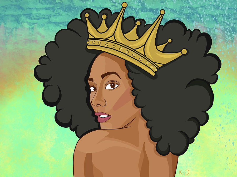 Abstract Digital Art - Reigning Queen by The King Gallery
