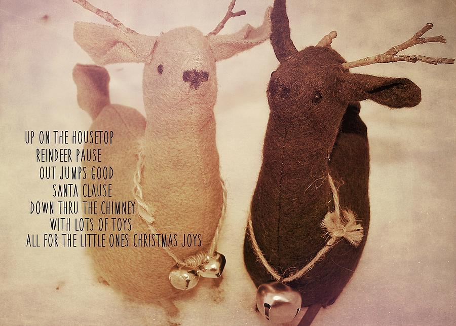Reindeer Photograph - Reindeer Joys Quote by JAMART Photography
