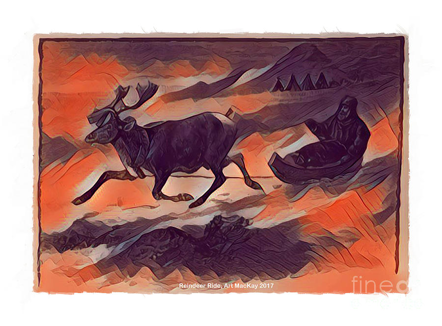 Reindeer Ride by Art MacKay