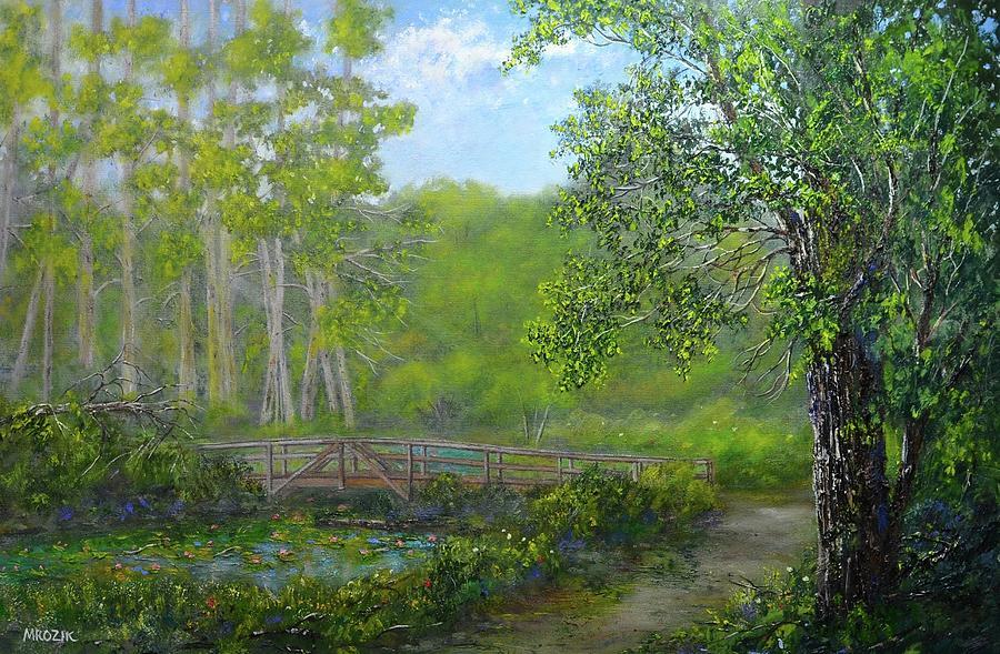 Woods Painting - Reinsteinwoods Park by Michael Mrozik