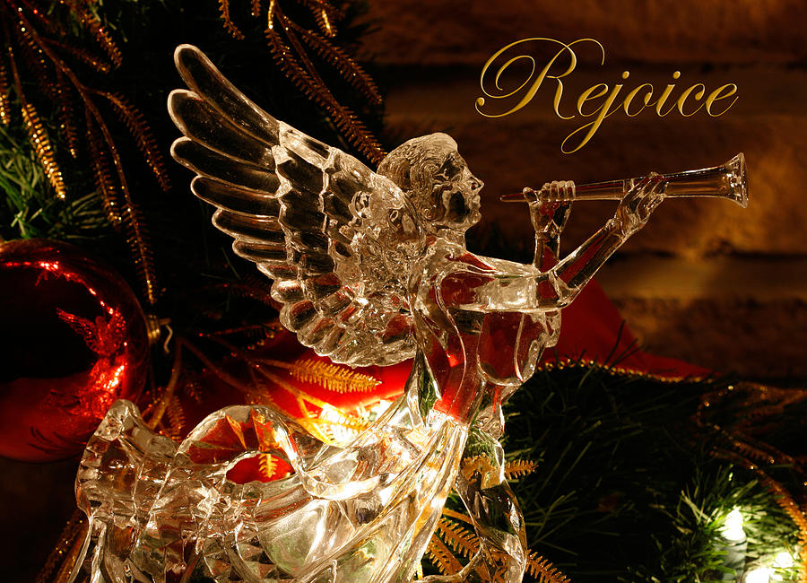 Angel Photograph - Rejoice Crystal Angel by Denise Beverly