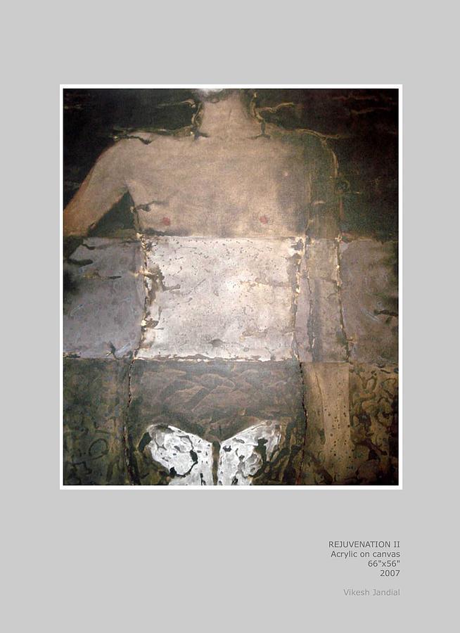 Man Painting - Rejuvenation II by Vikesh Jandial