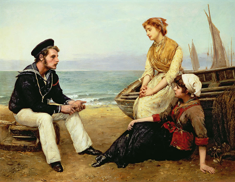 Relating Painting - Relating His Adventures by William Oliver