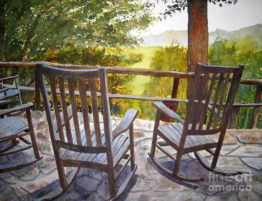 Mountains Painting - Relax by Shirley Braithwaite Hunt