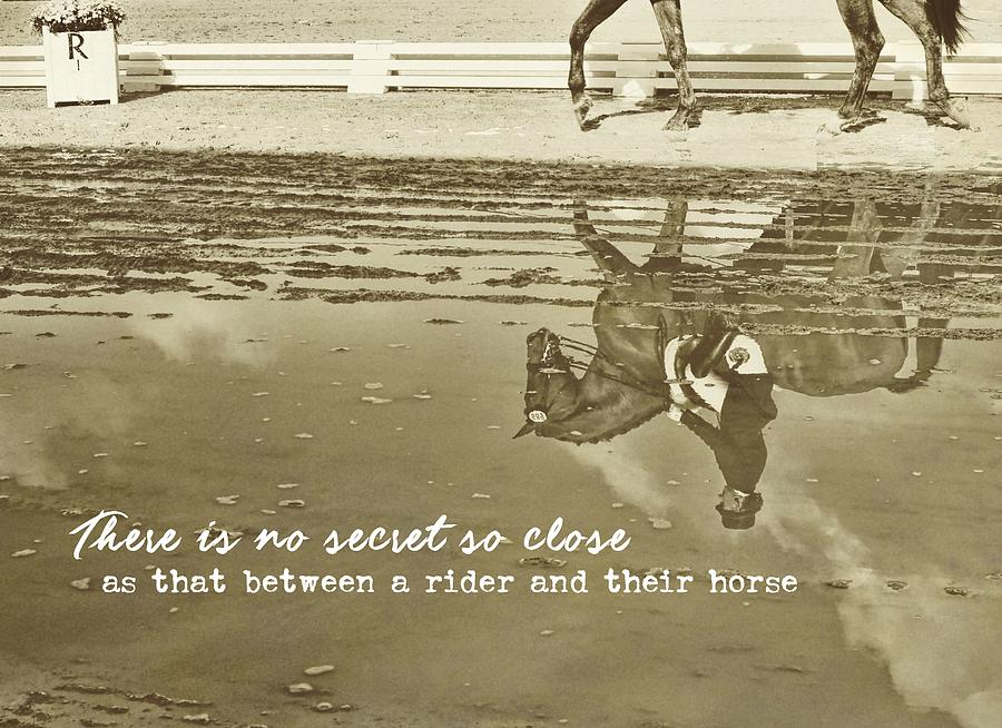 Horse Photograph - Relaxation Quote by JAMART Photography