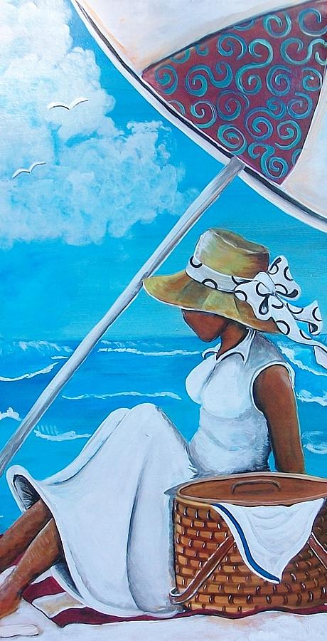 Authentic Painting - Relaxation by Sonja Griffin Evans