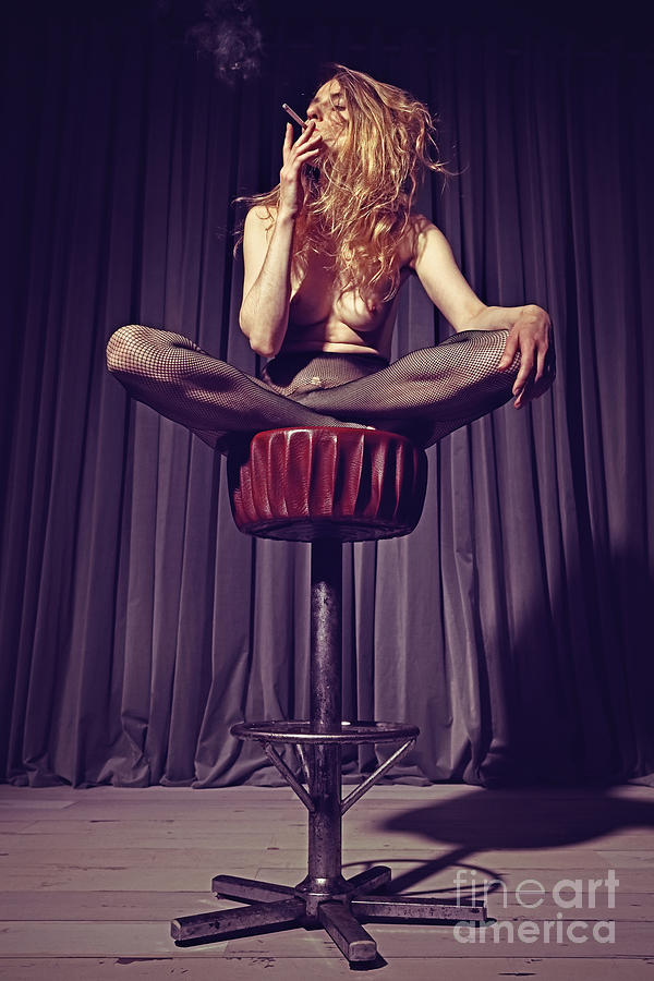 relaxed on the bar stool by William Langeveld