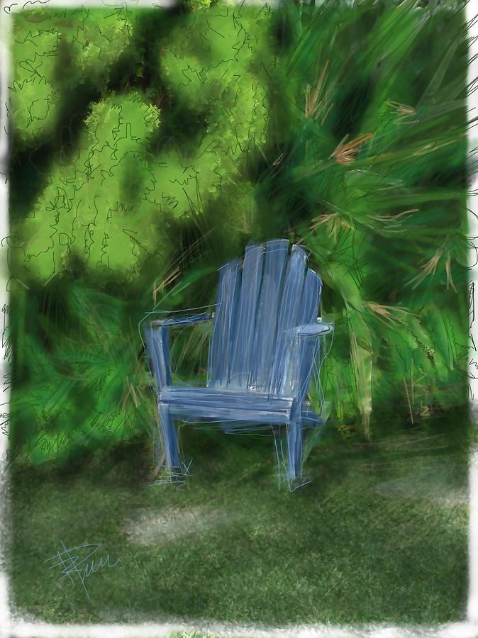 Chair Digital Art - Relaxin by Russell Pierce