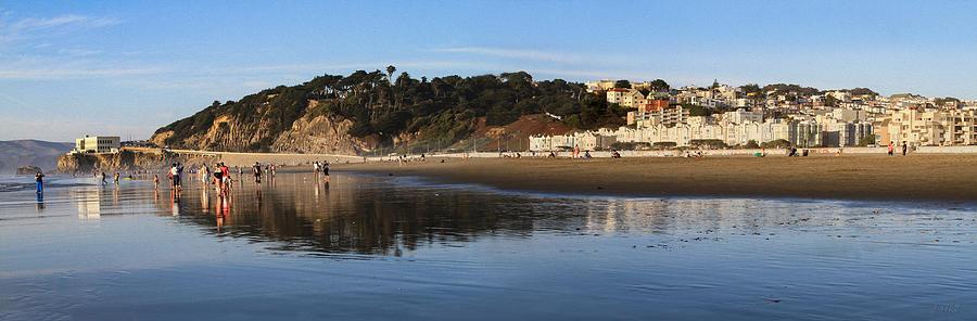 Panorama Photograph - Relaxing At Ocean Beach San Francisco by Bonnie Follett
