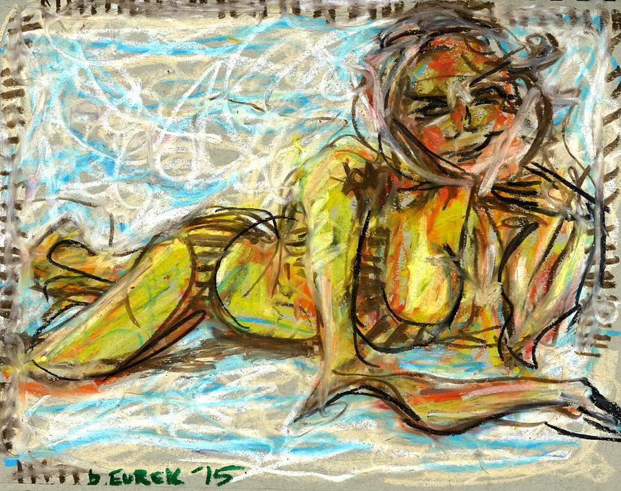 Kate Upton Drawing - Relaxing Kate by Drew Eurek