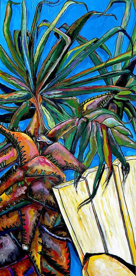 Palm Tree Painting - Relaxing by Patti Schermerhorn