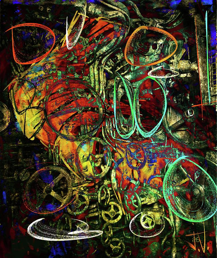 Abstract Digital Art - Release Valve Abstract by Jim Vance