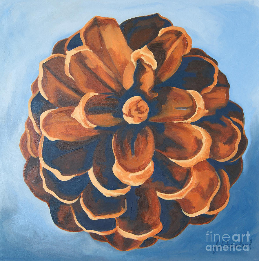 Pine Cone Painting - Released by Erin Fickert-Rowland