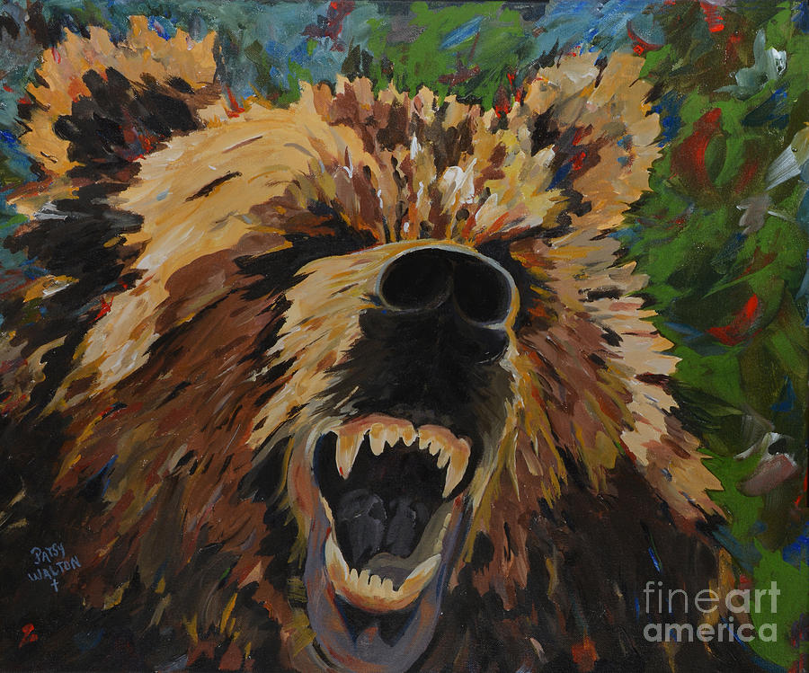 Baylor Bears Painting - Relentless by Patsy Walton