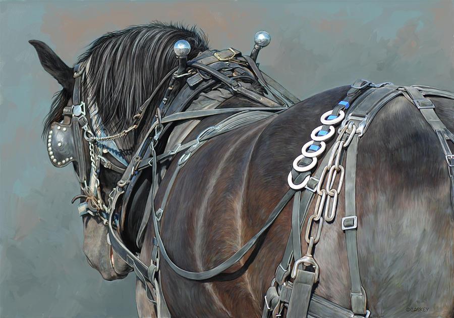 Horse Mixed Media - Reliable Power by Bethany Caskey