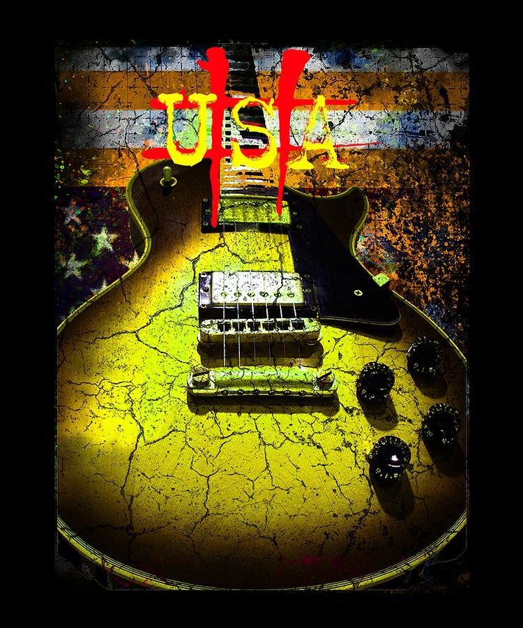 Usa Photograph - Relic Guitar Music Patriotic Usa Flag by Guitar Wacky