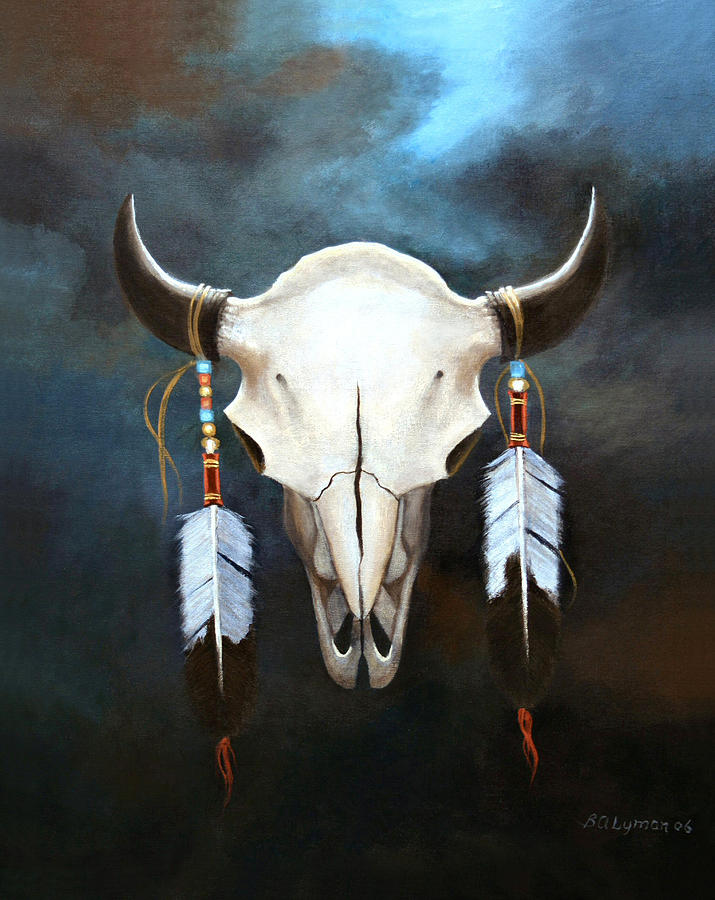 Symbolic Painting - Relic Of The Plains by Brooke Lyman