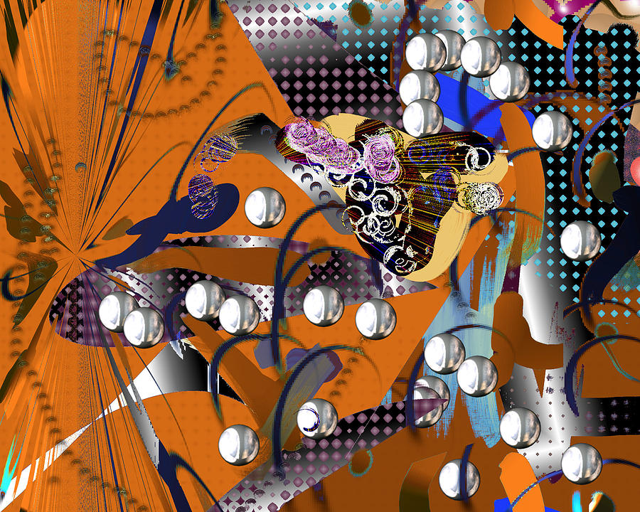 Abstract Digital Art - Relocation by Elsbeth Lane